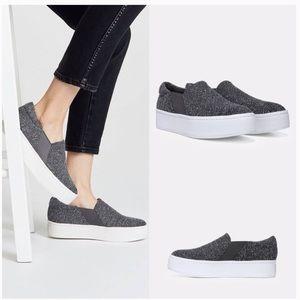 """NEW! VINCE """"Warren"""" Tweed Platform Slip On Sneaker"""